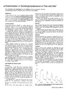 Determination of dimethylpolysiloxanes in fats and oils1
