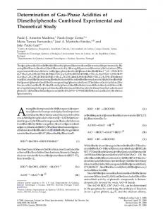 Determination of gas-phase acidities of dimethylphenols: Combined experimental and theoretical study