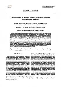 Determination of limiting current density for different electrodialysis modules