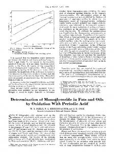 Determination of monoglyceride in fats and oils by oxidation with periodic acid