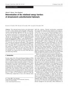 Determination of the rotational energy barriers  of atropisomeric polychlorinated biphenyls