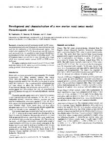 Development and characterization of a new murine renal tumor model