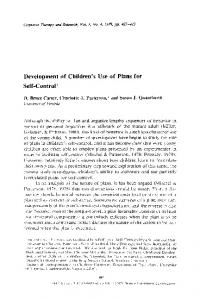 Development of children's use of plans for self-control