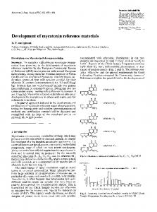 Development of mycotoxin reference materials