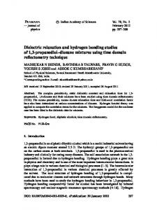 Dielectric relaxation and hydrogen bonding studies of 1,3-propanediol–dioxane mixtures using time domain reflectometry technique