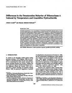 Differences in the Denaturation Behavior of Ribonuclease A Induced by Temperature and Guanidine Hydrochloride