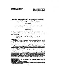 Differential Operators with Second-Order Degeneracy and Positive Approximation Processes