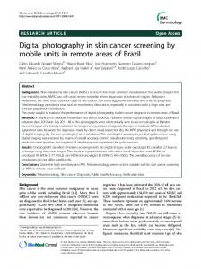 Digital photography in skin cancer screening by mobile units in remote areas of Brazil