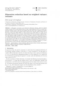 Dimension reduction based on weighted variance estimate