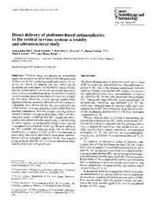 Direct delivery of platinum-based antineoplastics to the central nervous system: a toxicity and ultrastructural study