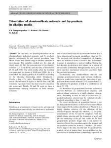 Dissolution of aluminosilicate minerals and by-products in alkaline media