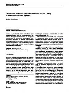 Distributed Resource Allocation Based on Game Theory in Multi-cell OFDMA Systems