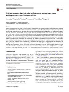 Distribution and urban–suburban differences in ground-level ozone and its precursors over Shenyang, China