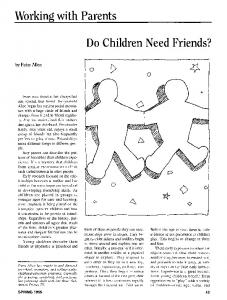 Do children need friends?