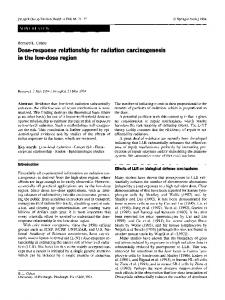 Dose-response relationship for radiation carcinogenesis in the low-dose region