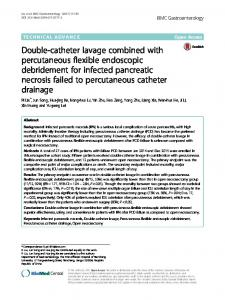 Double-catheter lavage combined with percutaneous flexible endoscopic debridement for infected pancreatic necrosis failed to percutaneous catheter drainage
