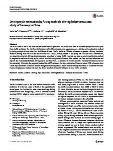 Driving style estimation by fusing multiple driving behaviors: a case study of freeway in China