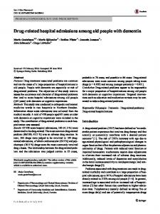 Drug-related hospital admissions among old people with dementia