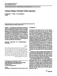 Dynamic Fatigue of Braided Textile Ligaments