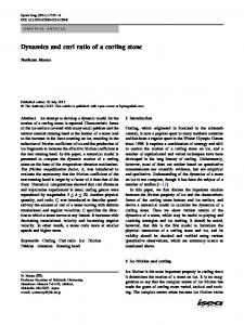 Dynamics and curl ratio of a curling stone