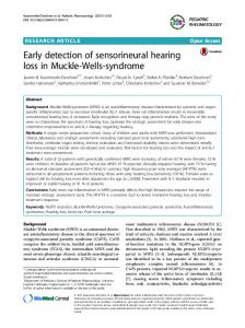 Early detection of sensorineural hearing loss in Muckle-Wells-syndrome