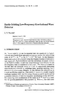 Earth-orbiting low-frequency gravitational wave detector