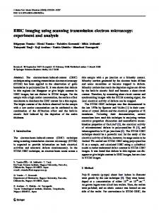 EBIC imaging using scanning transmission electron microscopy: experiment and analysis
