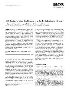 EEG findings in minor head trauma as a clue for indication to CT scan