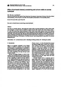 Effect of activated charcoal, autoclaving and culture media on sucrose hydrolysis