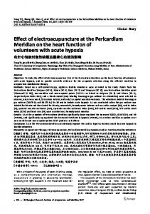 Effect of electroacupuncture at the Pericardium Meridian on the heart function of volunteers with acute hypoxia