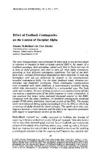 Effect of feedback contingencies on the control of occipital alpha