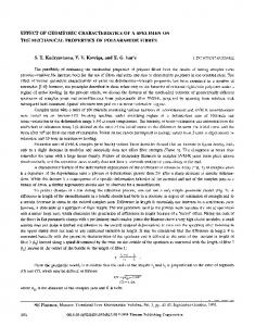 Effect of geometric characteristics of a specimen on the mechanical properties of polyaramide fibres