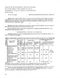 Effect of hyperthermia and hypothermia on development and course of acute pulmonary edema in animals anesthetized with ether