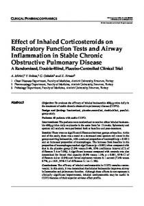 Effect of Inhaled Corticosteroids on Respiratory Function Tests and Airway Inflammation in Stable Chronic Obstructive Pulmonary Disease