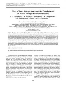 Effect of laser optoperforation of the zona pellucida on mouse embryo development in vitro