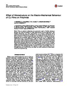 Effect of Microstructure on the Electro-Mechanical Behaviour of Cu Films on Polyimide