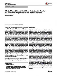 Effect of Nano-SiO2 and Bark Flour Content on the Physical and Mechanical Properties of Wood–Plastic Composites