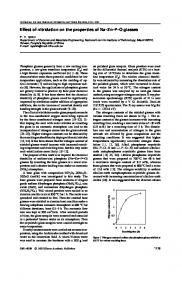 Effect of nitridation on the properties of Na–Zn–P–O glasses