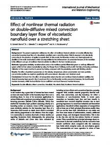 Effect of nonlinear thermal radiation on double-diffusive mixed convection boundary layer flow of viscoelastic nanofluid over a stretching sheet