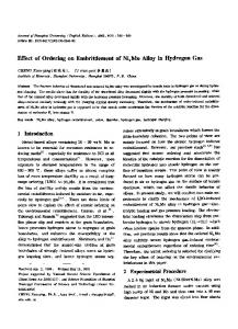 Effect of ordering on embrittlement of Ni4Mo alloy in hydrogen gas