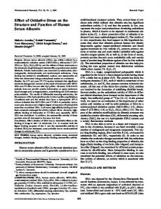 Effect of Oxidative Stress on the Structure and Function of Human Serum Albumin