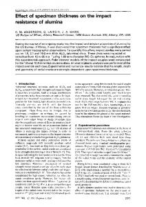Effect of specimen thickness on the impact resistance of alumina