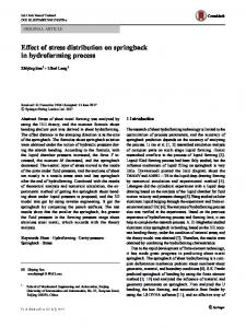 Effect of stress distribution on springback in hydroforming process