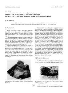 Effect of structural inhomogeneity of material on the strength of soldered joints