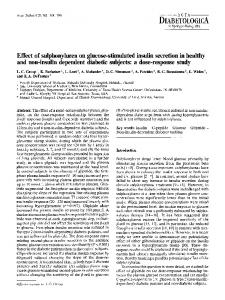 Effect of sulphonylurea on glucose-stimulated insulin secretion in healthy and non-insulin dependent diabetic subjects: a dose-response study