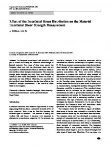 Effect of the Interfacial Stress Distribution on the Material Interfacial Shear Strength Measurement