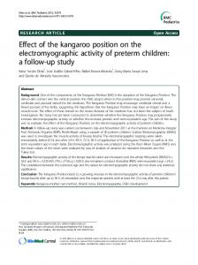 Effect of the kangaroo position on the electromyographic activity of preterm children: a follow-up study