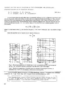 Effect of the scale factor on the strength and ductility characteristics of certain steels