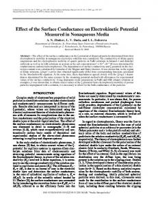 Effect of the Surface Conductance on Electrokinetic Potential Measured in Nonaqueous Media