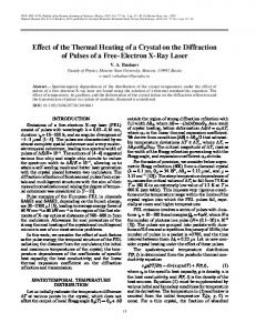 Effect of the thermal heating of a crystal on the diffraction of pulses of a free-electron X-ray laser